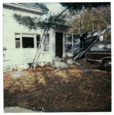 Garage of Doug's first house on Pine Street
