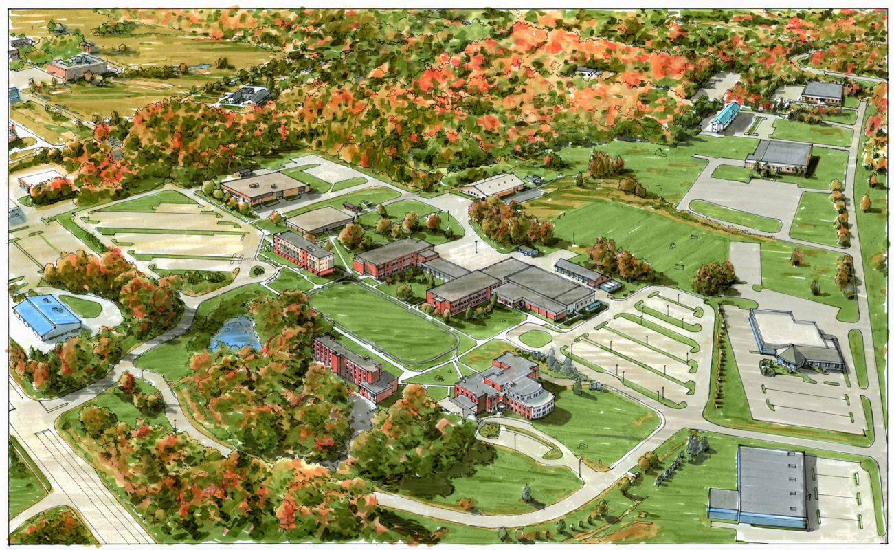 Husson University Campus Map.Emcc Campus Plan Wbrc Architects Engineers