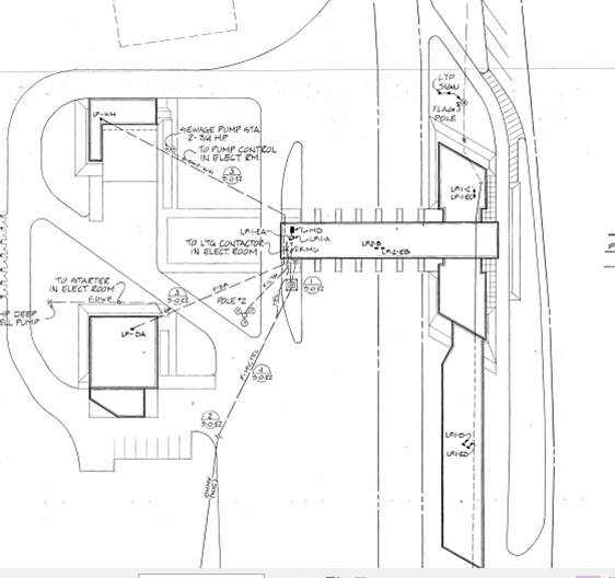 Site Electrical Plan for Houlton Border station
