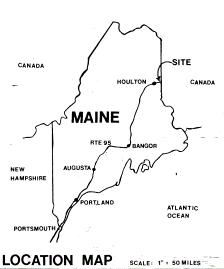 Houlton Border Location Map