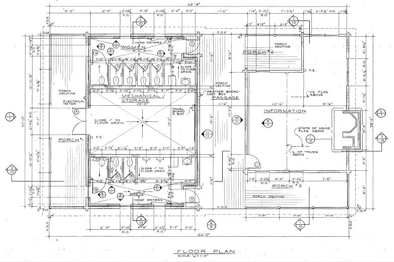 Floor plan of Houlton Tourist Center