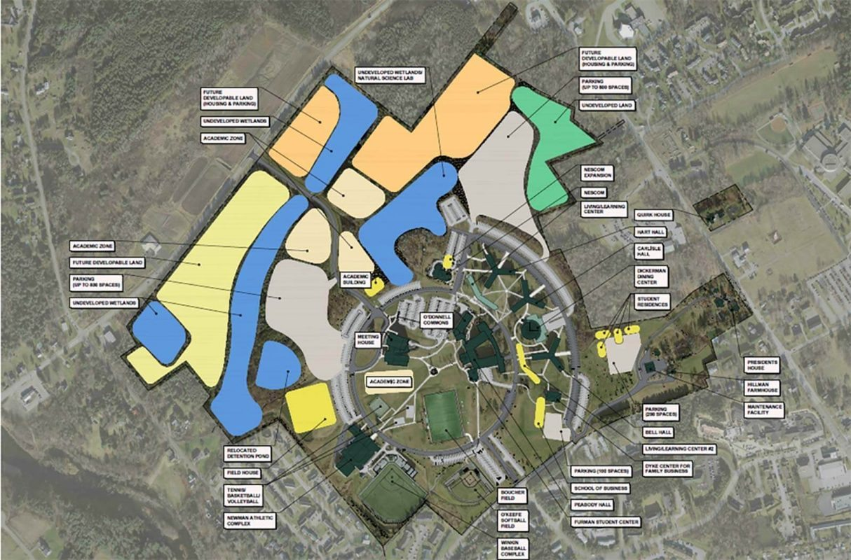Husson University Campus Map.Husson University Master Plan Wbrc Architects Engineers