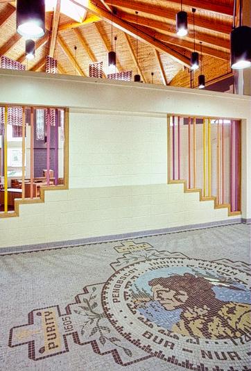 Indian Island School Lobby