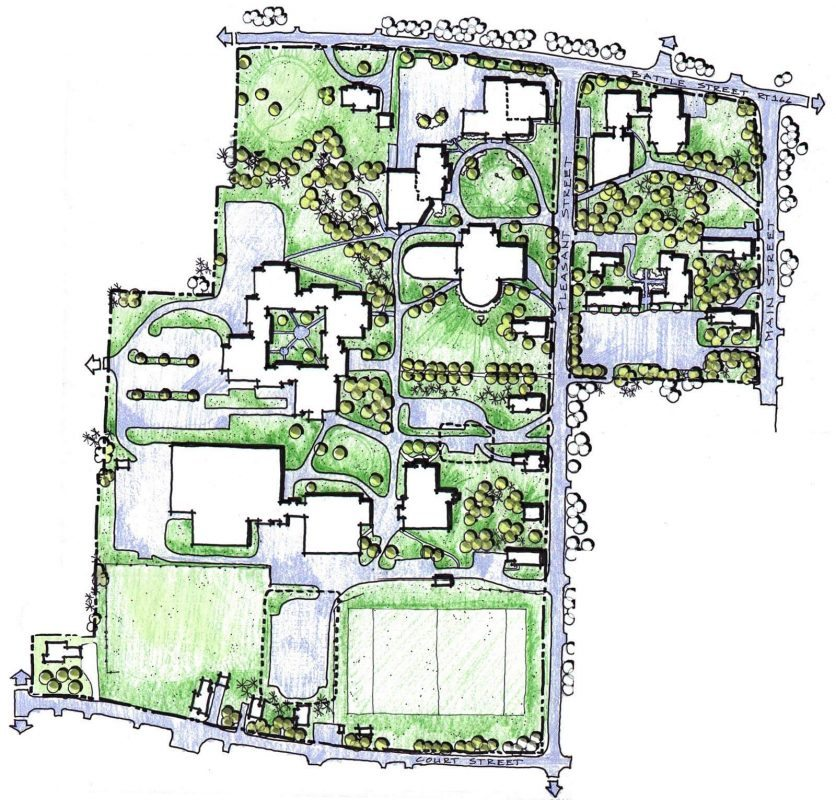 Husson University Campus Map.Mma Master Campus Plan Wbrc Architects Engineers