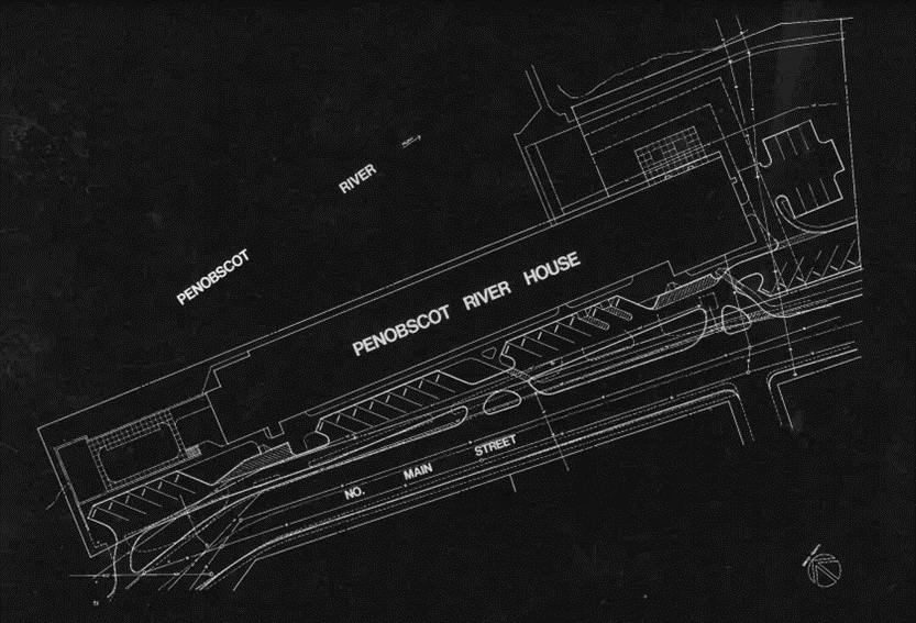 Site Plan of Penobscot River House