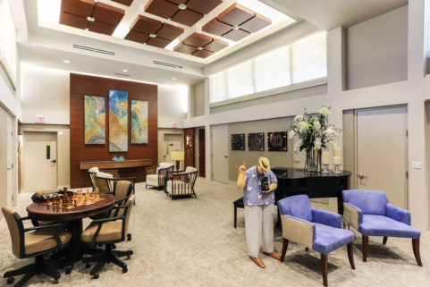 Penthouse Lobby at Plymouth Harbor