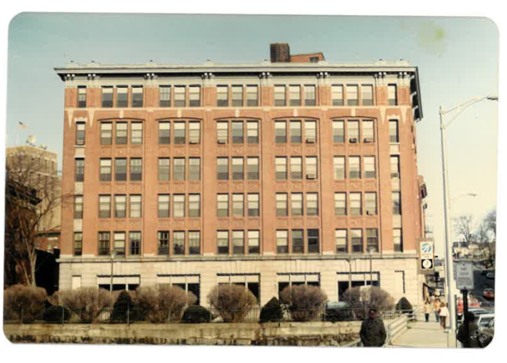 Photo of WBRC office on 6 State Street, Bangor in the 1980s