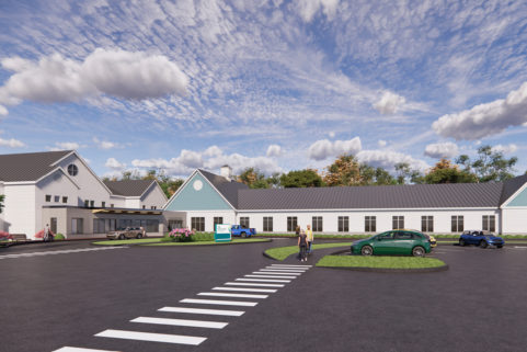 Rendering of new Blue Hill Hospital for Northern Light Health
