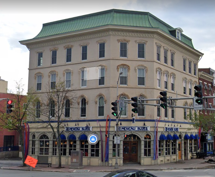 After -- Main and State Street, 1 West Market Square, Downtown Bangor as it appears today