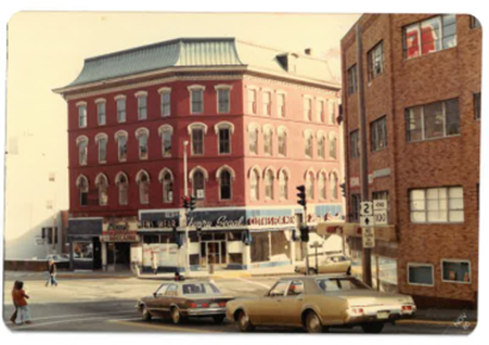 Before – 1 West Market Square Building at the corner of Main and State Streets, Downtown Bangor